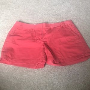 J. Crew pink shorts City Fit size 12